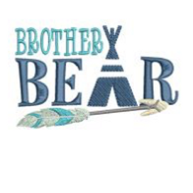 Brother Bear Embroidery Design
