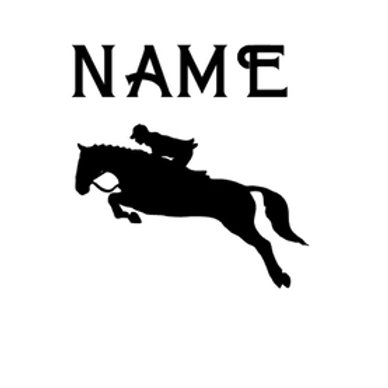 Personalised Equine Stickers / Decals