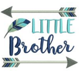 Little Brother Arrows Embroidery Design