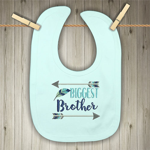 Biggest Brother Embroidered Baby Bib