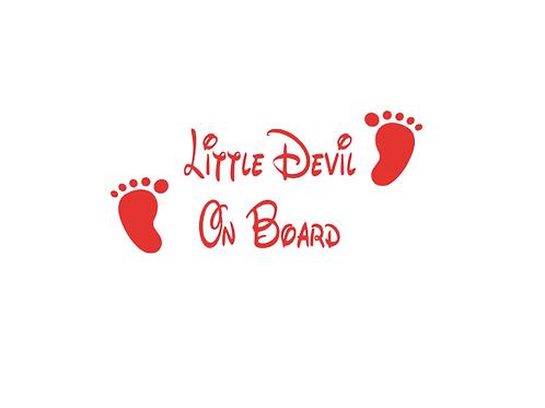 Little Devil on Board Car Sticker
