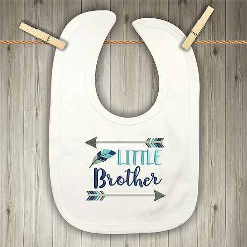 Little Brother Embroidered Baby Bib