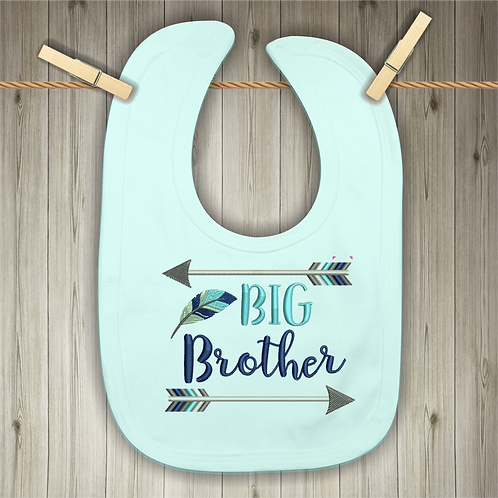 Big Brother Embroidered Baby Bib