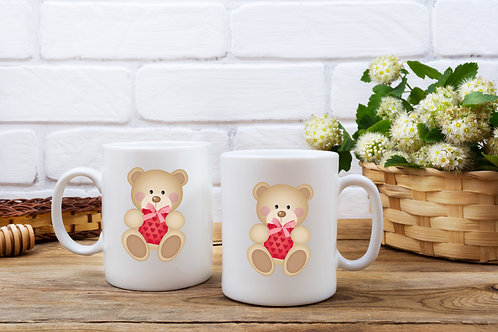 Personalised Teddy Bear Mug