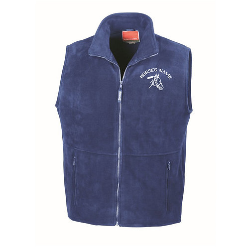 Personalised Equestrian Fleece Gilet