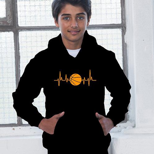 Heartbeat Basketball Children's Hoodie