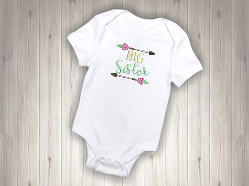 Big Sister Embroidered Baby Suit