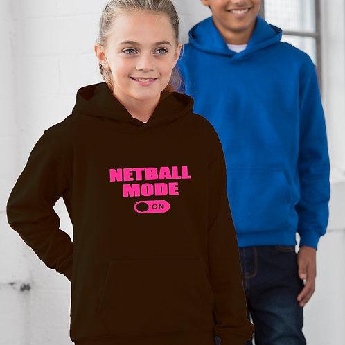 Netball Mode On Children's Hoodie