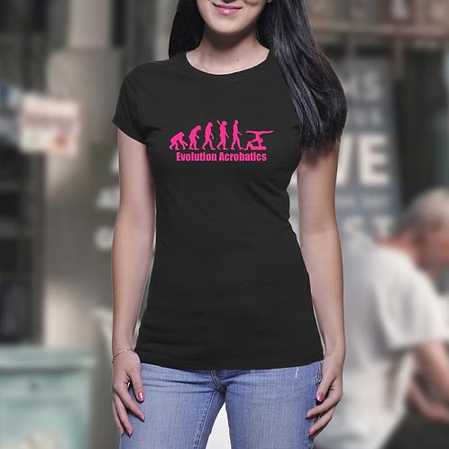 Girls White Evolution Acrobatics T-Shirt