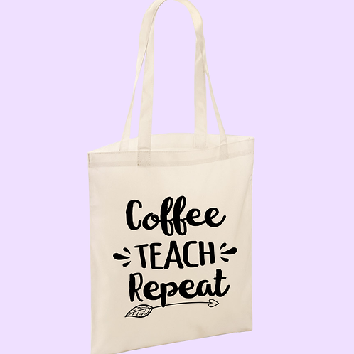 Teacher Themed Tote Bag
