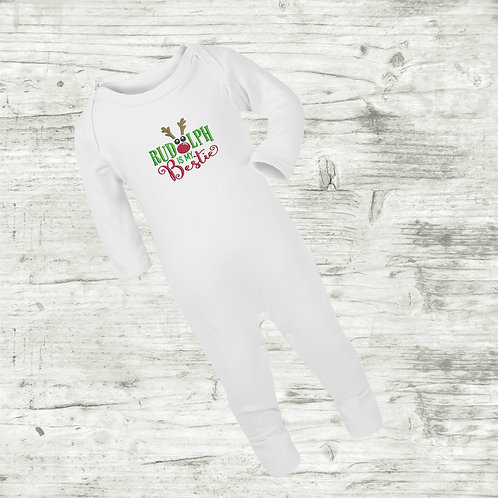 Rudolph Is My Bestie Sleep Suit