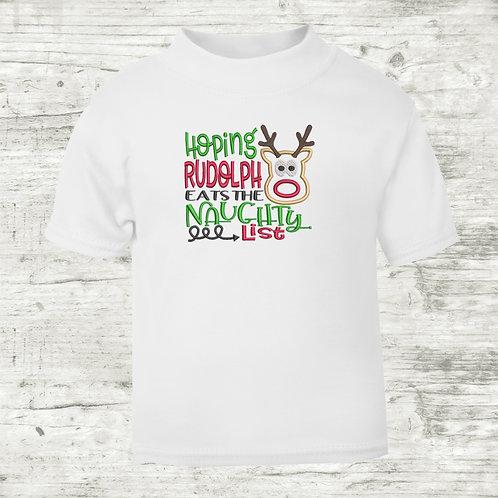 Hoping Rudolph Eats The Naughty List T-shirt