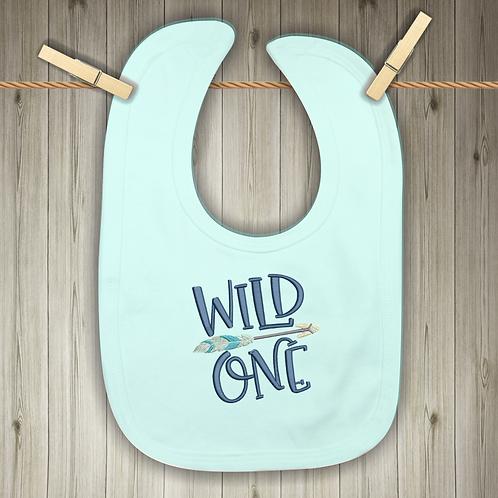 Wild One Embroidered Baby Bib