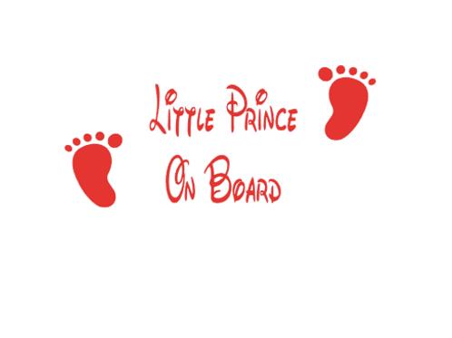 Little Prince On Board Car Sticker
