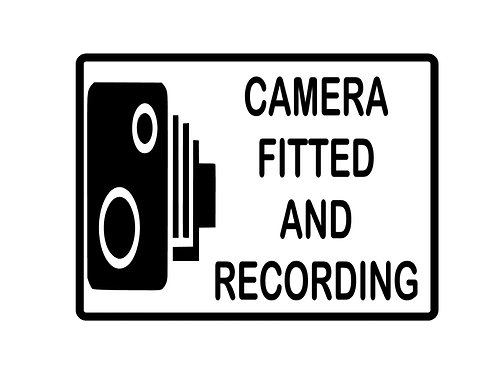 Camera Fitted & Recording Decal / Sticker