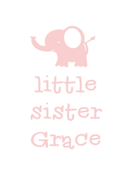 Little Sister - Name Vinyl Design