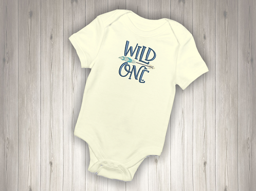 Wild One Embroidered Baby Suit