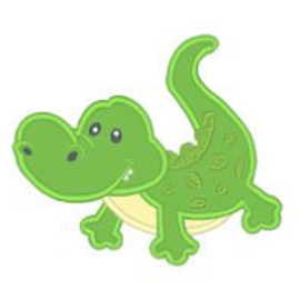Alligator Applique Embroidery Design