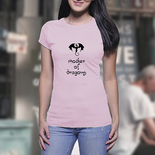 Mother of Dragons Logo - Game of Thrones Inspired Ladies T-Shirt