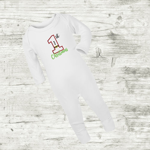 1st Christmas Sleep Suit