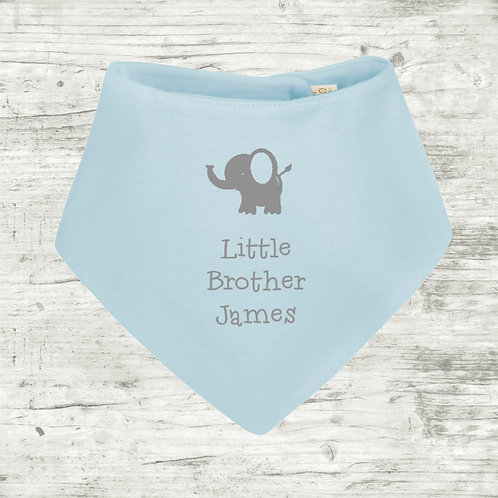 Little Brother with Elephant Bib