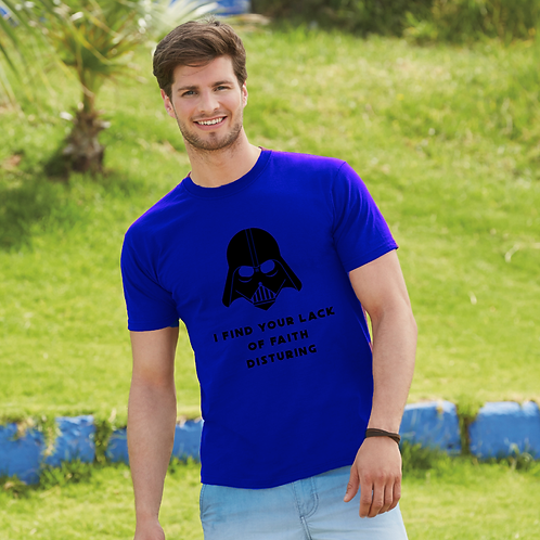 I Find Your Lack Of Faith Disturbing Mens  T-Shirt