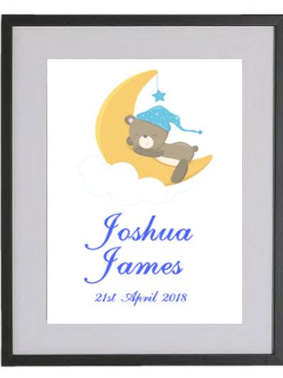 Baby Bear Personalised Framed Print