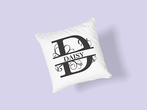 Supersoft Personalised Cushion with Monogrammed Initial