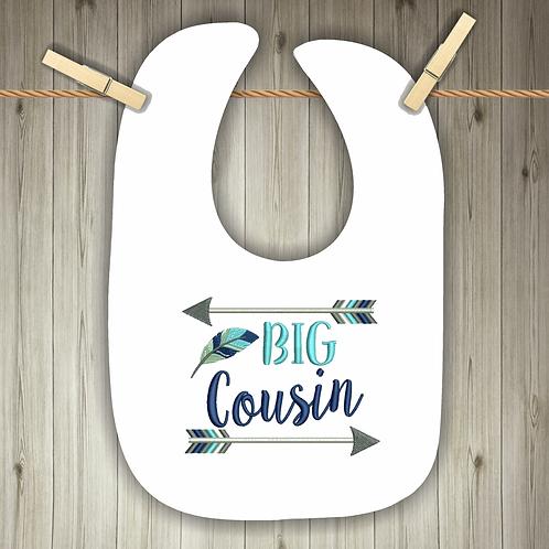 Big Cousin Embroidered Baby Bib