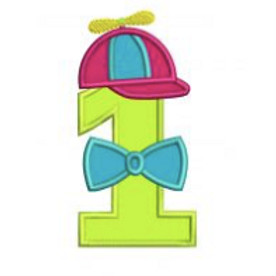 Propeller Hat One Applique Embroidery Design