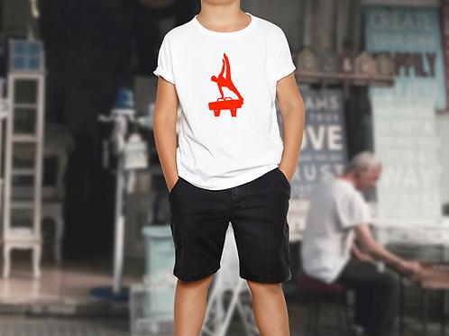 Gymnastics Pommel Horse Children's Sports T-Shirt