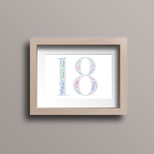 Age Specific Word Art Print