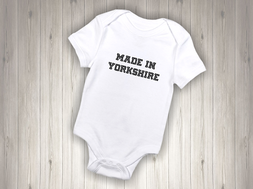 Personalised Baby Bodysuit - MADE IN COUNTY