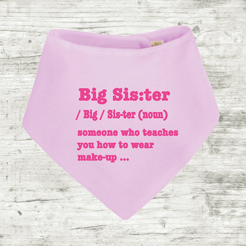 Big Sister Meaning Bib