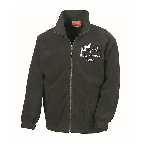 Personalised Equestrian Fleece Jacket