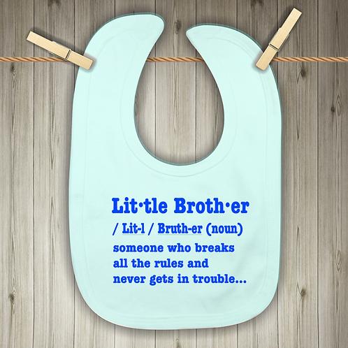 Little Brother Baby Bib