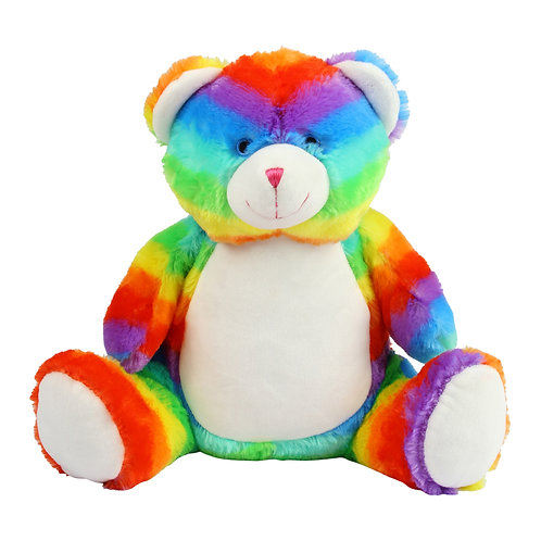 Personalised Zippie Rainbow Bear