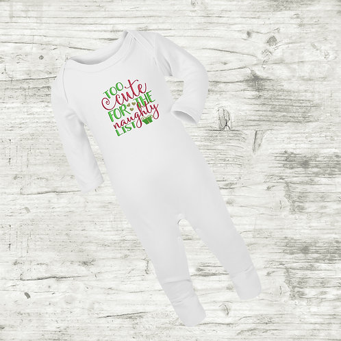 Too Cute For The Naughty List Sleep Suit