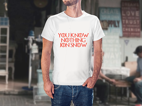 You know nothing Jon Snow - Game of Thrones Inspired Men's T-Shirt
