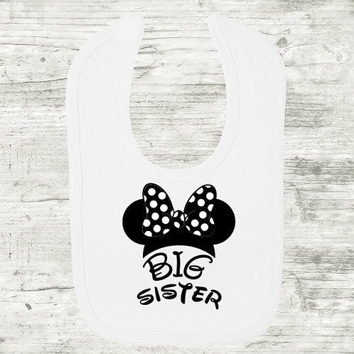 Big Sister Minnie Mouse Bib