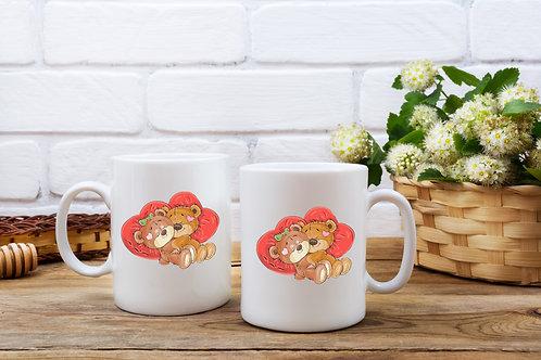 Personalised Teddy Bear Mug