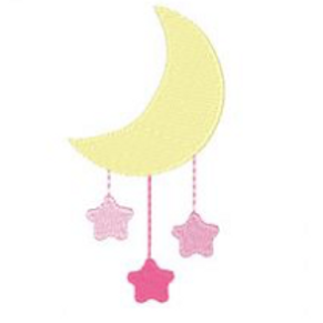Moon Mobile Embroidery Design