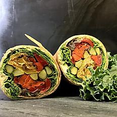 Roasted Vegetable and Hummus Wrap