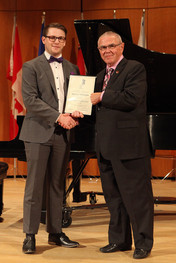 Federation of Canadian Music Festivals final competition 2016, Third Place Vocal Award - Spencer McKnight