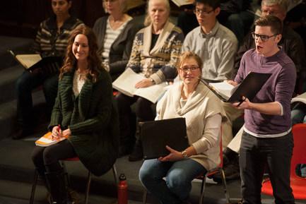 Saskatoon Symphony Orchestra Messiah rehearsal 2014 - Chelsea Mahan, Lisa Hornung, Spencer McKnight