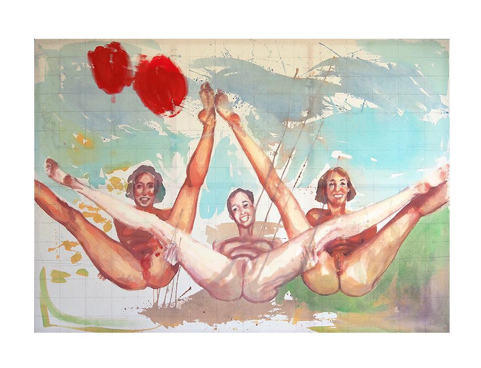 Großer Spaß_big fun, 2003, 195 x 280 cm