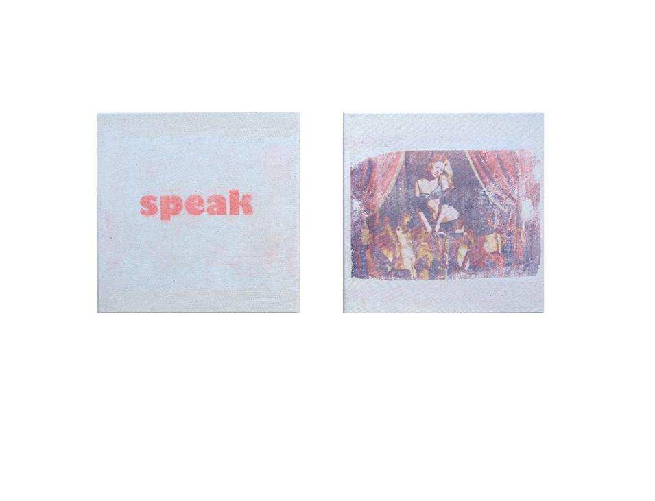 speak, 2017, 2 x 30 x 30 cm