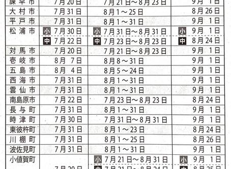 開校時間のお知らせ【夏期日程】