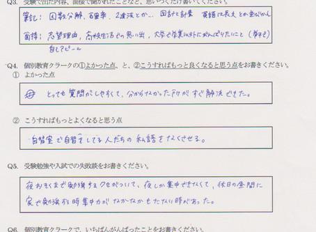 合格アンケート(活水女子大学 看護栄養学部 看護学科)