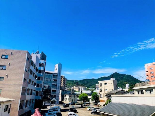 教室から見た西の空
